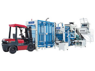 Interlocking Brick Machine, Block Machine
